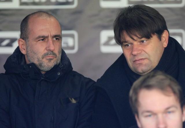 Michał Probierz i Radosław Mroczkowski