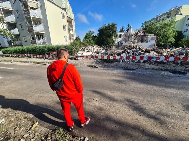 Tak wyglądały pozostałości domu przy Wybickiego 12 w Toruniu dzień po wybuchu.