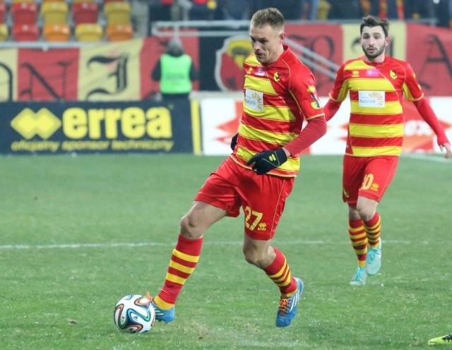 Jagiellończycy - Mateusz Piątkowski (z piłką) i Nika Dzalamidze mają za sobą przygotowania do wiosennej części rozgrywek