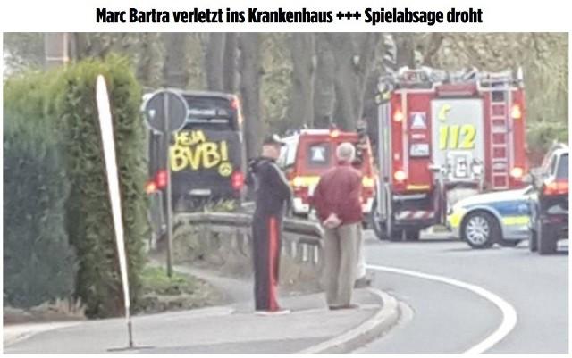 Eksplozja w autokarze Borussii. Wybuch ranił piłkarza Marca Bartratę