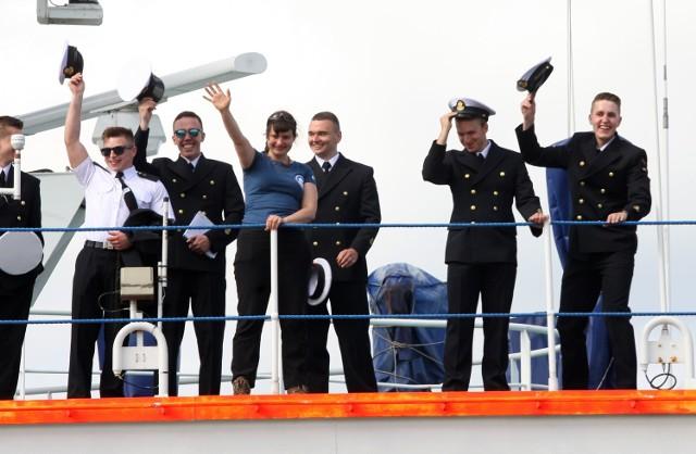 """Pożegnanie statku """"Horyzont II"""" w Gdyni (26.06.2015 r.)"""