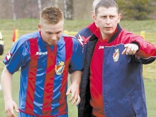 Grzegorz Bednarczyk (z prawej) z Kamilem Oblizajkiem.