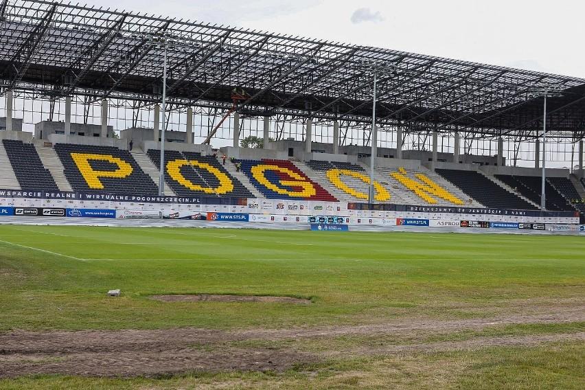 Stadion Pogoni Szczecin - stan 24 czerwca 2020.
