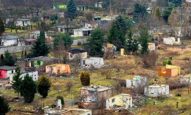 Społeczność Romów od kilku lat zamieszkuje teren byłego ogrodu działkowego przy ul. Lechickiej