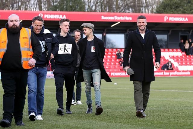 Phil Neville, Harvey Neville, Romeo Beckham i David Beckham