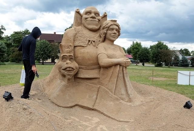 Festiwal Rzeźb w Piasku w Ińsku.
