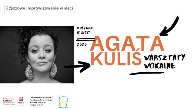 Agata Kuliś, znana wokalistka poprowadzi warsztaty jazzowe online