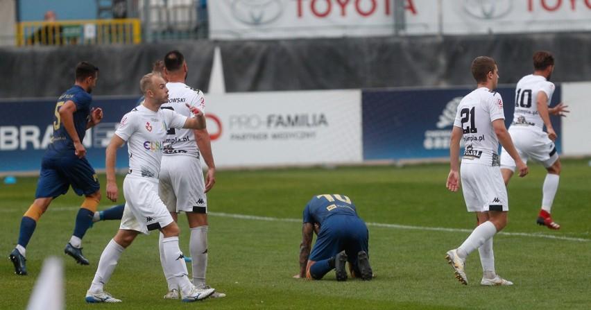 Krystian Pieczara zmarnował najlepszą okazję na gola dla Stali.