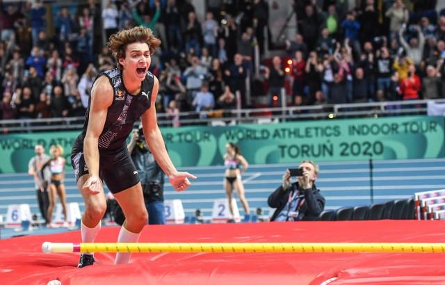 Armand Duplantis chce już po raz drugi w Arenie Toruń pobić rekord świata w skoku o tyczce