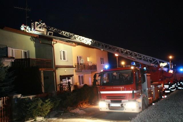 Pożar przy ul. Marii Dąbrowskiej w Słupsku