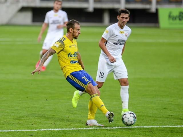 Arka Gdynia pokonała Puszczę Niepołomice 3:2 (1:0).