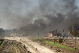 Parowóz przejechał przez stację kolejową w Kwidzynie. Retropociąg zostawił nad miastem kłęby czarnego dymu [zdjęcia]