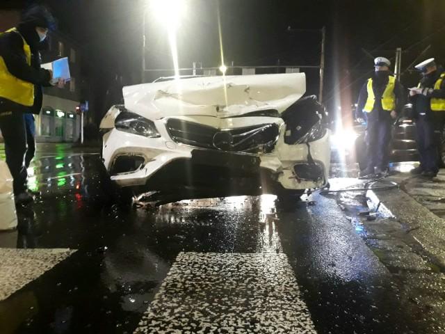 Wypadek na al. Hallera we Wrocławiu 3.02.2021