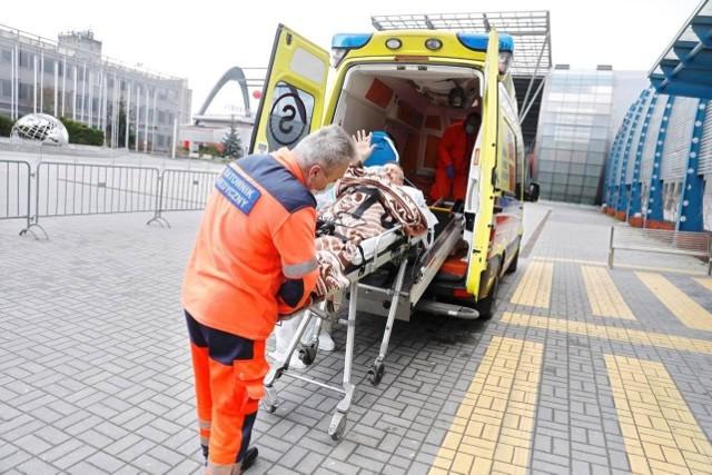 Pan Henryk Borek opuszcza Świętokrzyski Szpital Tymczasowy w Targach Kielce