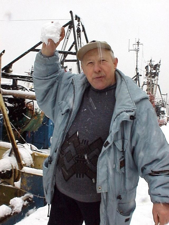 Henryk Banasiak ze Świnoujścia  jest rybakiem od 40 lat.