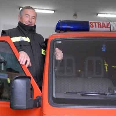 - Jestem dumny z chłopaków i sprzętu jaki dysponujemy - mówi szef OSP Jan Laszkiewicz
