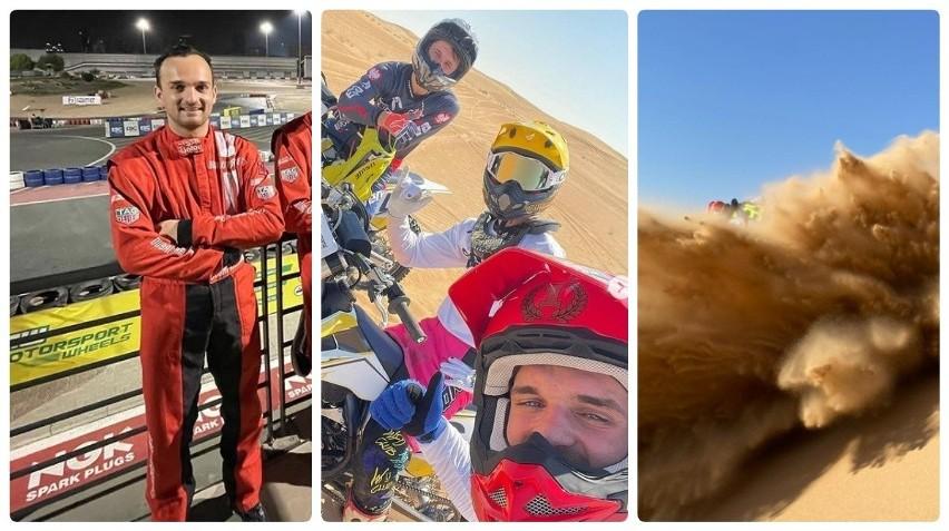 Bartosz Zmarzlik w Dubaju. Żużlowy mistrz świata trenuje na motocrossie, rowerze i gokartach [zdjęcia]