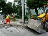 Nowy asfalt na ulicy Orlej
