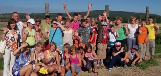 Wczoraj dzieci spędziły cały dzień w Biedrzychowicach pod Głogówkiem.