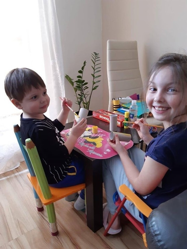 Ostatnie prace dzieci wykonały nawiązując do tematu ochrony środowiska