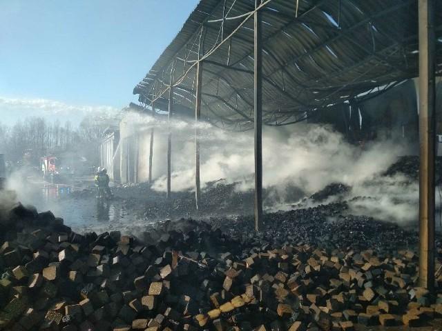 Duży pożar w Pokrzywniakach