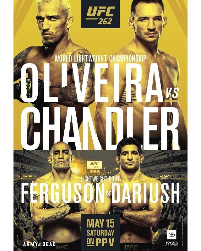 UFC 262: karta walk, wyniki