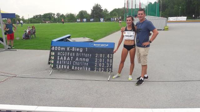 Anna Sabat i trener Piotr Kowal mają za sobą udany weekend