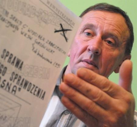 - Bardzo chciałbym się dowiedzieć, po co była prowadzona przeciw nam sprawa operacyjna Wiosna - mówi Krzysztof Hańbicki.