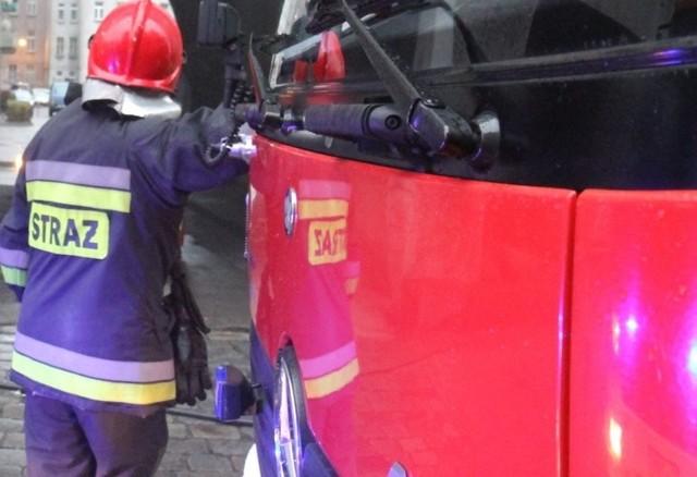 Strażak podczas akcji