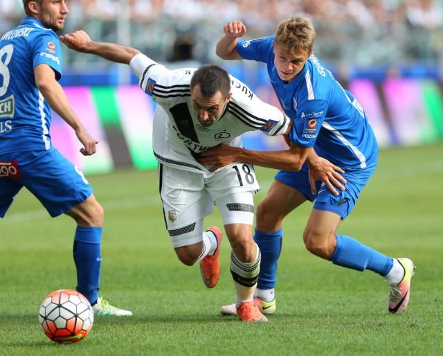 Michał Kucharczyk starał się jak mógł, ale jego Legia przegrała z Lechem 1:4