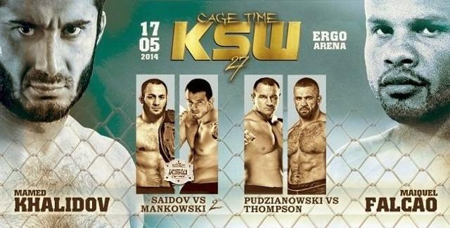 KSW 27. Pudzianowski - Thompson transmisja online w tv oraz stream - od godz. 20.