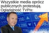 """Wreszcie sukces! TVP Jacka Kurskiego jest najchętniej oglądaną stacją MEMY Internauci o akcji """"Media bez wyboru"""""""
