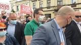 Premier Mateusz Morawiecki przyjechał do Brzezin, żeby... promować Andrzeja Dudę