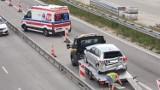 Wypadek z udziałem karetki i dwóch aut na A1 koło Piotrkowa Trybunalskiego. Trzy osoby trafiły do szpitala!