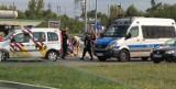 Wypadek na skrzyżowaniu Nila z Hetmańską w Białymstoku. Potrącenie rowerzystki niedaleko tunelu (zdjęcia)