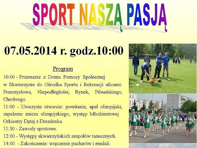 Sport Naszą Pasją – to hasło imprezy, która odbędzie się w środę w Skwierzynie w ramach X Obchodów Międzynarodowego Dnia Osób Niepełnosprawnych.