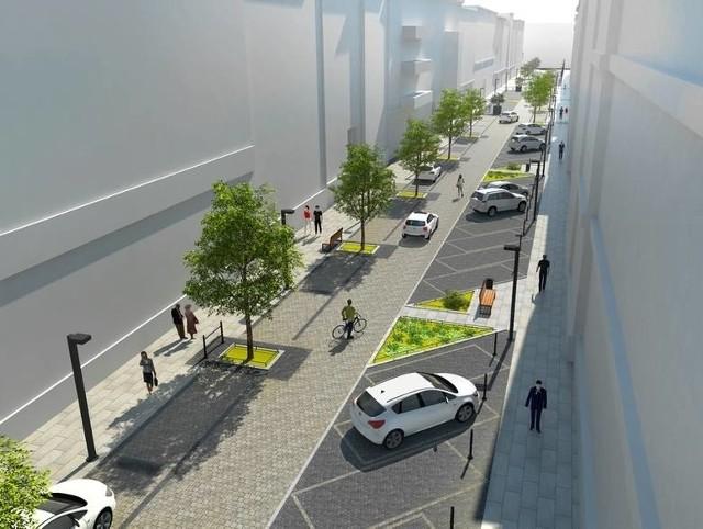 Na ulicy powstanie 45 miejsc parkingowych ukośnych oraz około 24 równoległych
