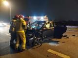 Kolejny groźny wypadek! Niedaleko Sulechowa zderzyły się trzy samochody osobowe. Warunki na drogach są trudne