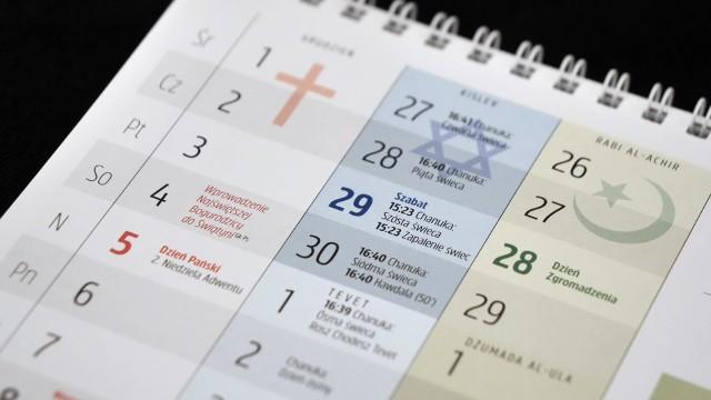 W grudniu wydano czwarty poznański, ekumeniczny kalendarz trzech religii
