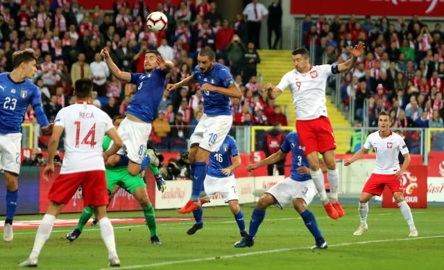 Fragment meczu Polski z Włochami w poprzedniej edycji Ligi Narodów