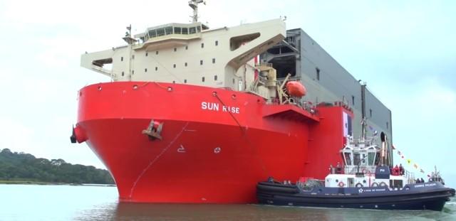 Ciężarowiec Sun Rise pojawił na redzie w Gdyni