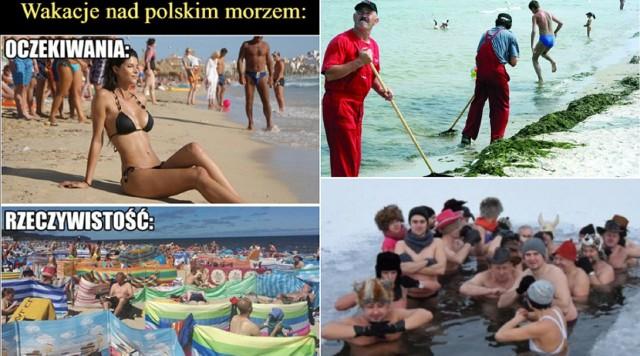 Wakacje na Bałtykiem 2021 - najlepsze MEMY. Przesuwaj zdjęcia w prawo - naciśnij strzałkę lub przycisk