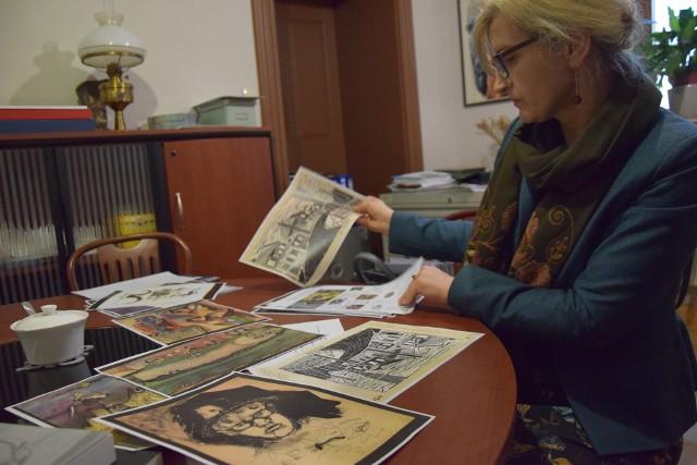 Marta Małkus, dyrektor Muzeum Ziemi Wschowskiej szykuje wystawę twórczości prof. Eugeniusza Geta Stankiewicza
