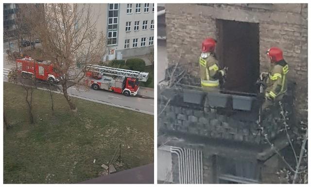 Pożar przy Częstochowskiej w Białymstoku. Mieszkańcy sami ugasili ogień
