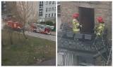 Pożar przy Częstochowskiej w Białymstoku. Mieszkańcy sami ugasili ogień (zdjęcia)
