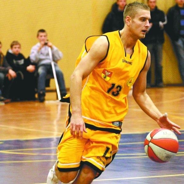 Żubry w Łodzi nie zdołały sięgnąć po zwycięstwo. Piotr Jagoda (na zdjęciu)