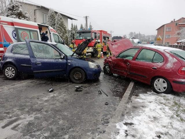 Wypadek na DW 933 w Libiążu