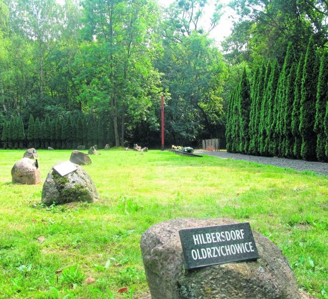 Nazwy na kamieniach oznaczają wsie, skąd zwożono więźniów