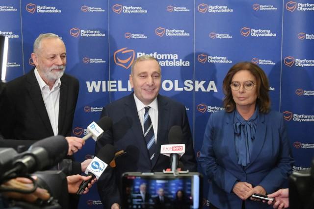 Rafał Grupiński, Grzegorz Schetyna i Małgorzata Kidawa-Błońska