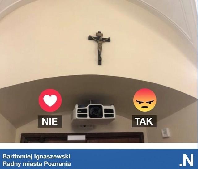 Radni Nowoczesnej złożyli interpelację w sprawie krzyża wiszącego w sali sesyjnej urzędu miasta.
